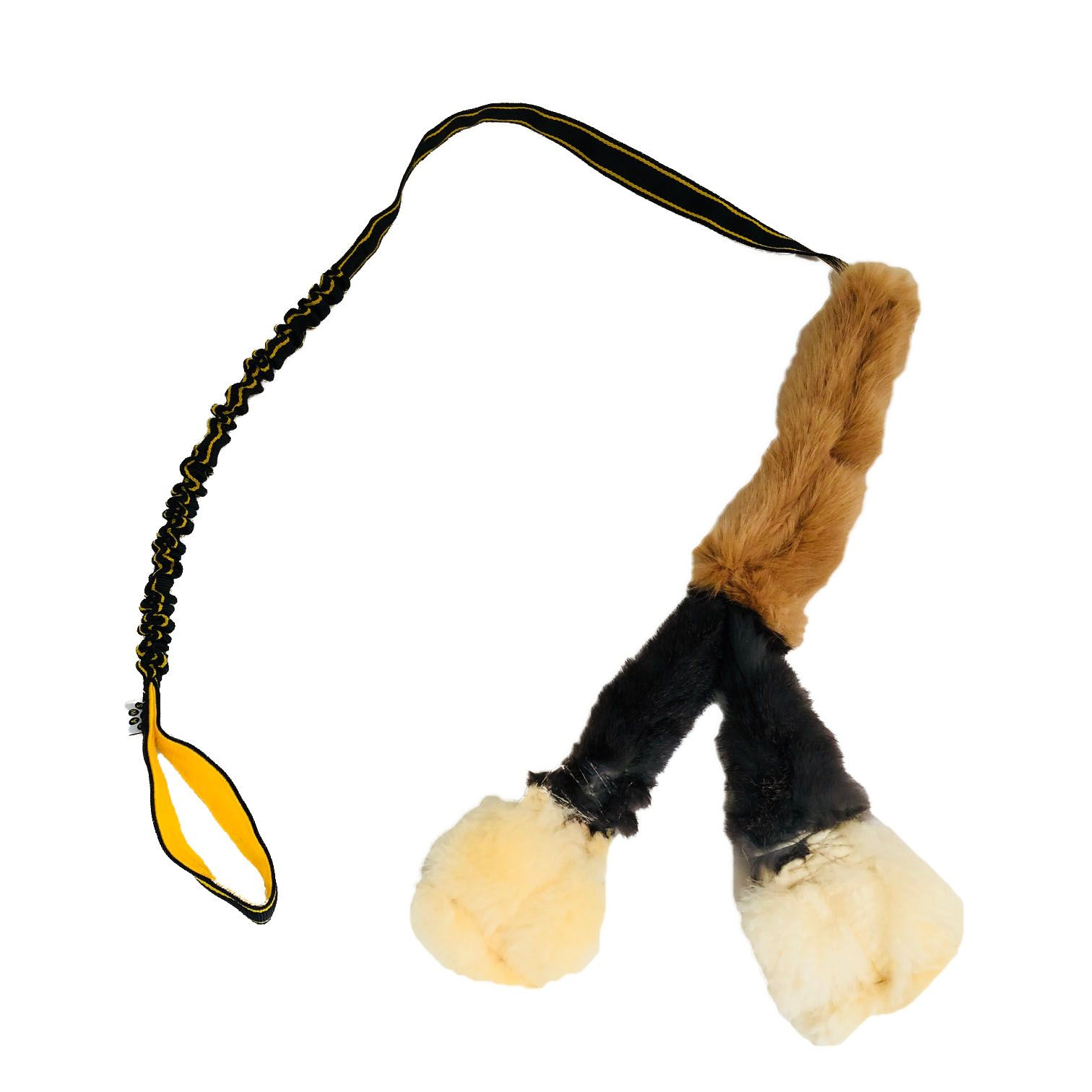 Paws Made The Waggle! Squeaker Extra long bungee Sheep Rabbit /& Faux Dog Training Toy