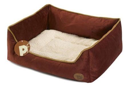Faux Suede Dog Bed